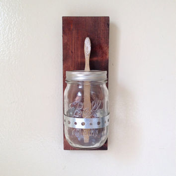 Mason Jar Sconce / Toothbrush Holder / Hanging Change Jar / Mason Jar Vase