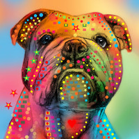 english bulldog Art Print by Mark Ashkenazi