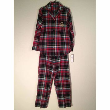 Lauren Ralph Lauren Home For The Holiday Flannel Plaid Pajama Set 819497 M L XL
