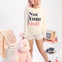 Not Your Doll Baggy Beach Jumper
