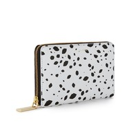 Cut Out Spot Grainy Leather Continental Wallet | Wallets | Purses | Lulu Guinness