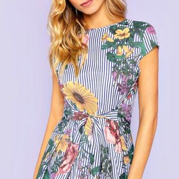 Summer Passions Floral Print Top