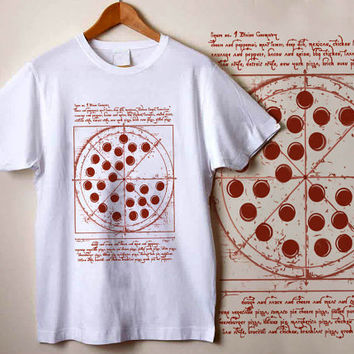 Peter Parker Shirt Vitruvian Pizza shirt custom shirt , custom tshirt unisex, male and female S-XXL