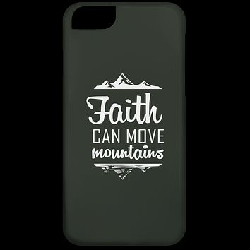 "Christian Gifts - ""Faith Can Move Mountains"" Phone Cases"