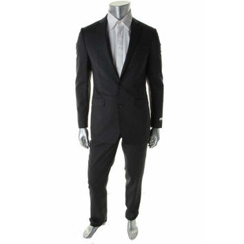 Calvin Klein Mens 2PC Wool Two-Button Suit