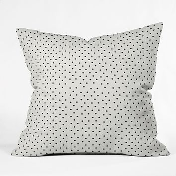 Allyson Johnson Tiny Polka Dots Throw Pillow