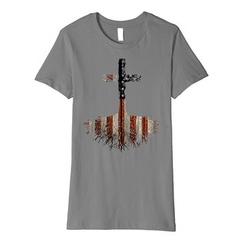 Christian Shirt - USA Root your Faith in Jesus Christ