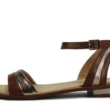 Seychelles for Women: Wont Stop Whiskey Gold Leather Sandal