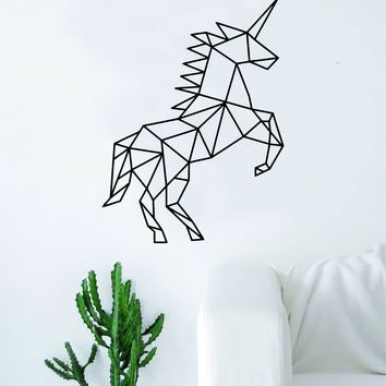 Geometric Unicorn Animal Design Decal Sticker Wall Vinyl Decor Art Living Room Bedroom Abstract Cool Teen Magical Horse