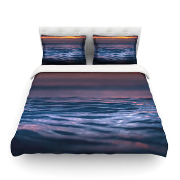 "Colin Pierce ""Night Fire"" Blue Orange Photography Featherweight Duvet Cover"