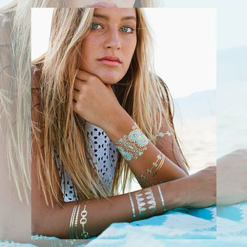 Metallic Jewelry Tattoos - BLUE LAGOON