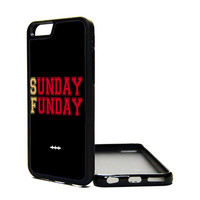 Apple iPhone 6 5C 5S 4S Generation Fitted Rubber Silicone TPU Phone Case Cover Sunday Funday San Francisco 49ers Niners SF Cali Red Gold