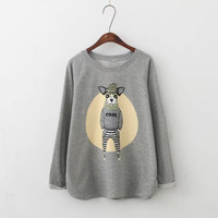 Cool Dog Print Casual Sweater