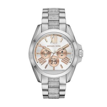 GK2JE Michael Kors Access Unisex 45mm Silvertone Bradshaw Chronograph Smart Watch