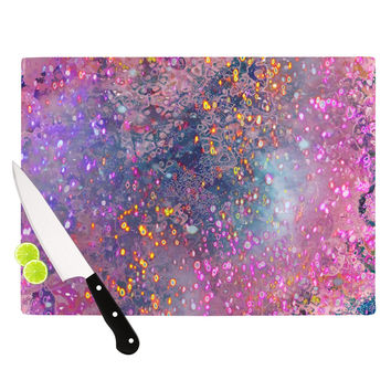 "Marianna Tankelevich ""Pink Universe"" Pink Purple Cutting Board"