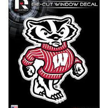 ICIKIHN Wisconsin Badgers MASCOT Edition 5' Flat Die Cut Decal Sticker University of