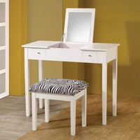 Coaster Lift-Top Vanity with Stool