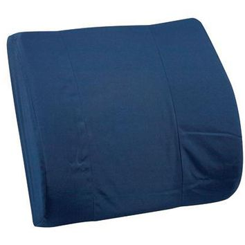 Complete Medical Lumbar Cushion W/Strap Navy