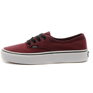 """Vans""Ulzzang classic era canvas shoes Men's shoes for women's shoes Wine red"
