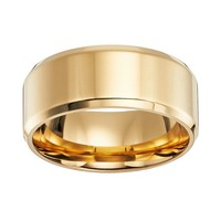 Cherish Always 14k Gold-Over-Stainless Steel Wedding Band - Men (Grey)