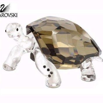 Swarovski Colored Crystal Figurine GALAPAGOS TORTOISE EVENT 2010 #995036