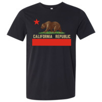 Don Pimentel California Republic Bear Flag Asst Colors Mens Lightweight Fitted T-Shirt/tee