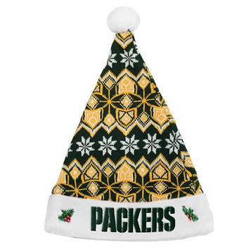 Green Bay Packers NFL 2015 Knit Santa Hat