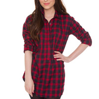Greer Plaid Tunic