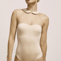 Ballet Illusion Maillot in Nude