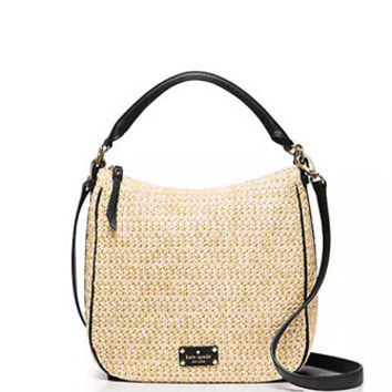 Kate Spade New York Cobble Hill Straw Small Ella Shoulder Bag