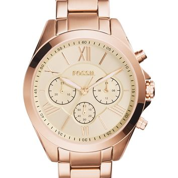 Fossil | Women's Rose Gold Chronograph Stainless Steel Bracelet Watch, 40mm | Nordstrom Rack