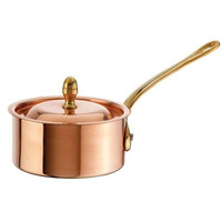 Copper Tin Mini Sauce Pan with Lid