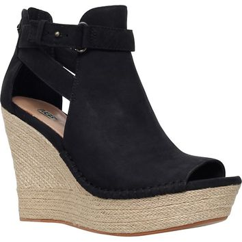 UGG - Jolina nubuck leather wedges | Selfridges.com
