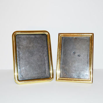 Vintage Brass Picture Frames Gold Picture Frames set of 2 Picture Frames Wedding Décor Wedding Picture Frames for Table Numbers