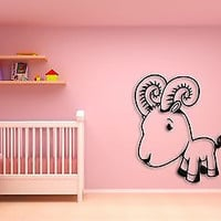Wall Sticker For Kids Baby Goat  Cool Decor for Nursery Room z1400