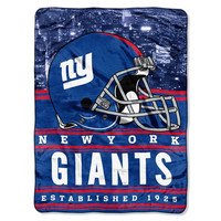 New York Giants NFL Silk Touch Throw (Stacked Series) (60inx80in)