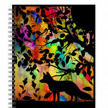 Fox Travel Journal - Fox Lover Gift - Fox Note Book - Fox Sketchbook - Fox Spiral Notebook - Fox Stationery - Animal Journal