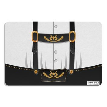 Lederhosen Costume Black Placemat All Over Print by TooLoud