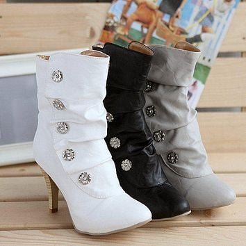 On Sale Hot Deal High Heel Winter Boots [11192768455]