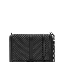 Chevron Quilted Jumbo Love Crossbody