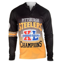 Pittsburgh Steelers Super Bowl XL Official NFL Champions Poly Hoody Tee