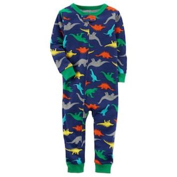 CREY7GX Toddler Boy Carter's Dinosaurs Footless Pajamas | null