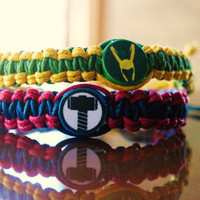 Thor and Loki Friendship Bracelet by FanShip on Etsy