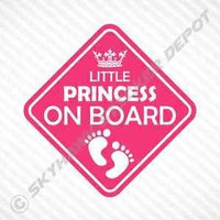 Little Princess On Board Vinyl Decal Bumper Sticker Baby Girl Sticker Car Truck