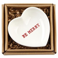 Christmas Heart-Shaped Sentiment Trays by Mud PIe