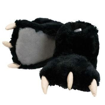 ONETOW Black Bear Paw Adult Slippers