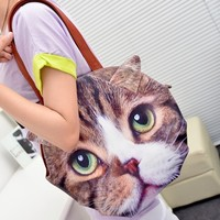 FREE Delivery Retro Lovable Cat Looking For You Handbag