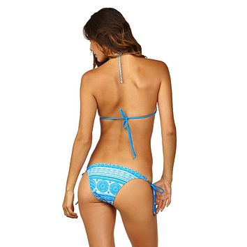 Stringer Tie Side Cheeky Bottom - Blue Moon Print