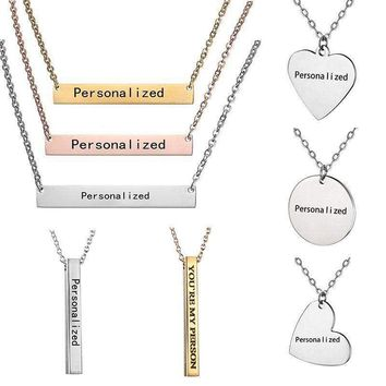 Personalized Engraved Custom Your Name Stainless Steel Necklace Pendant  Jewelry bdabc7956c