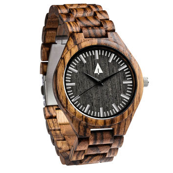 All Wood Watch // All Zebrawood Noir